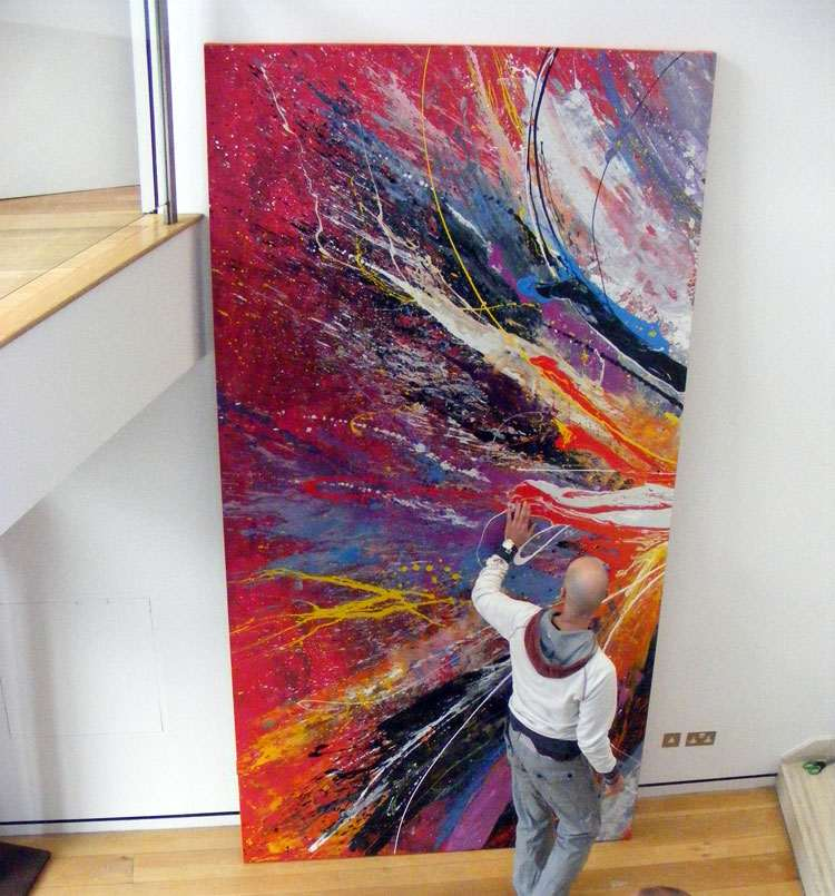 Large 3m tall commissioned painting