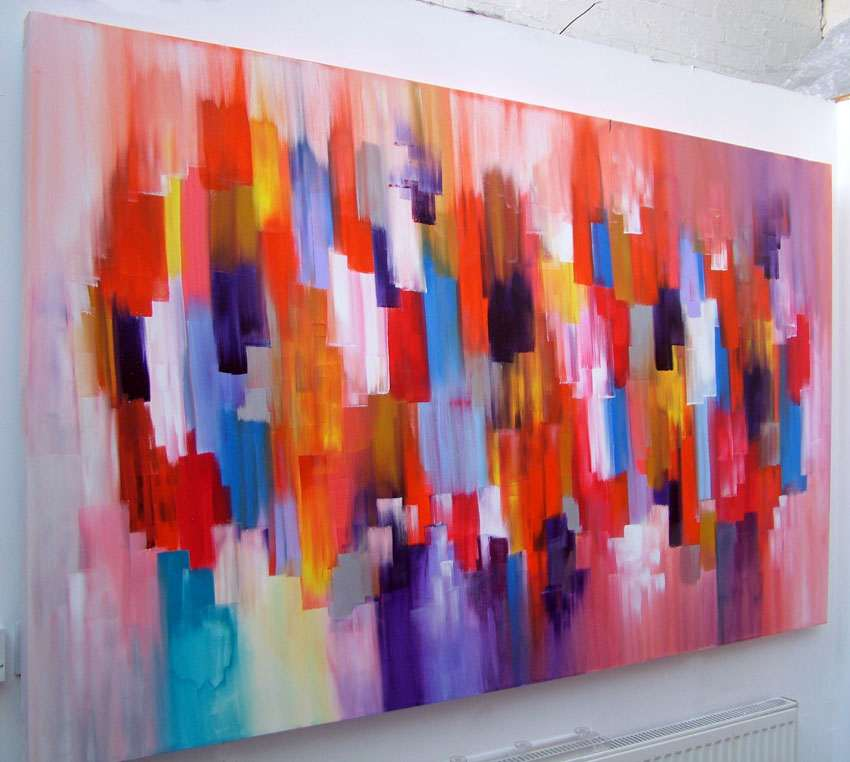 Large Abstract Art Canvas Painting Dante A Sold Piece Of