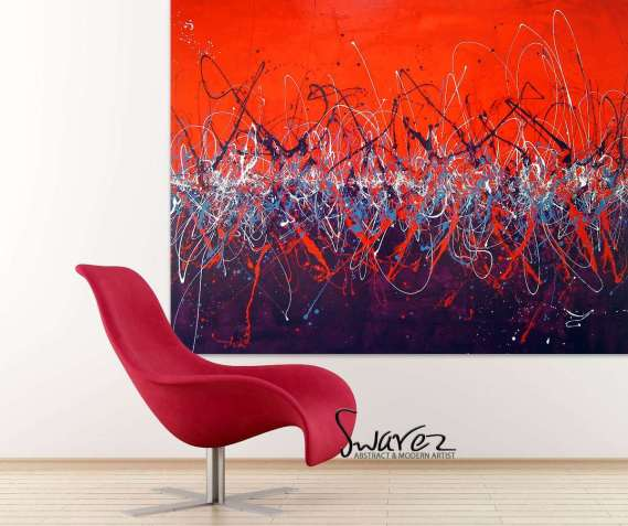 Red Contemporary Art
