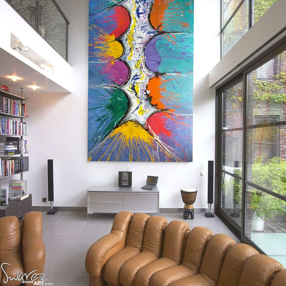 tall modern art painting