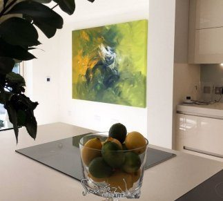 Holy Diver art and a bowl of lemons and limes