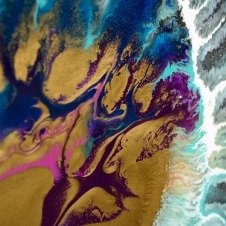 Close up photo of abstract art