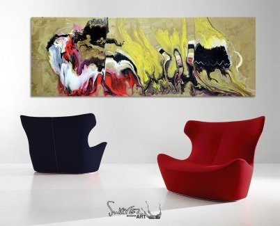 two chairs and an original painting