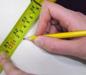 tape measure for cutting canvas cloth