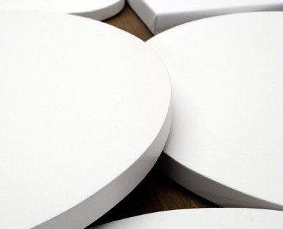 round pre-stretched art canvases