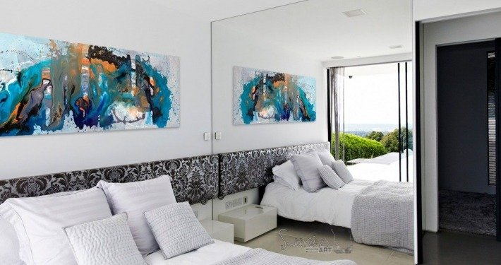 large abstract art painting