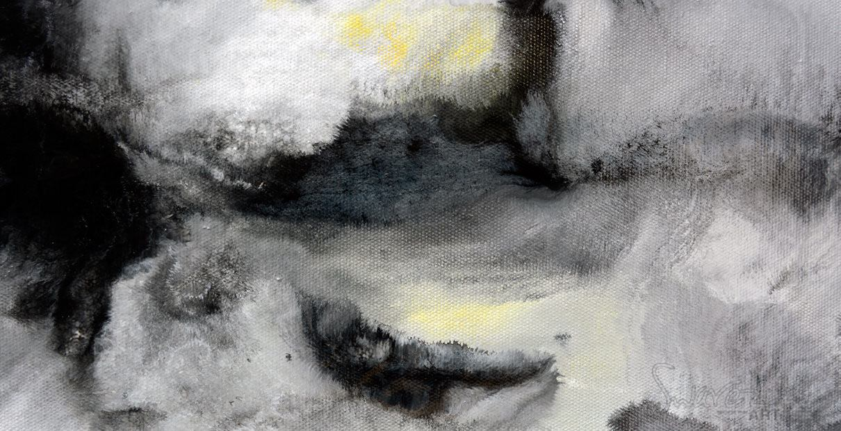 Hints of yellow in this monochrome painting