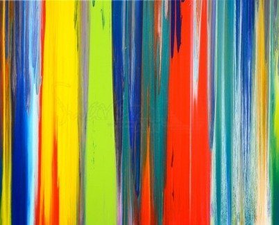 Stripes made from paint