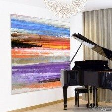 Back to Reality painting by a Grand Piano