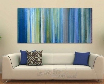 Long blue stripes and lines art