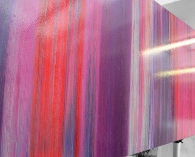 Purple art in stripes