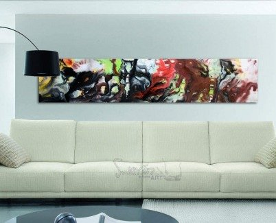 Art in a very contemporary living space