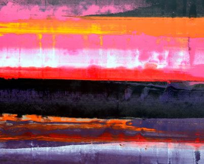 Red, purple and pink slim abstract art