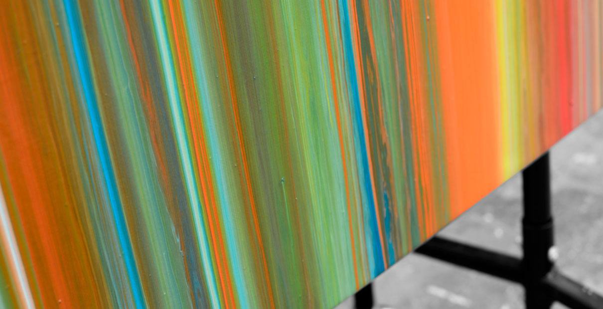 Bottom edge of a painting called Mission impossible