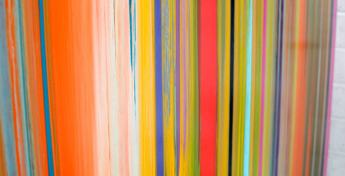 Art called Mission impossible with lots of striped colours