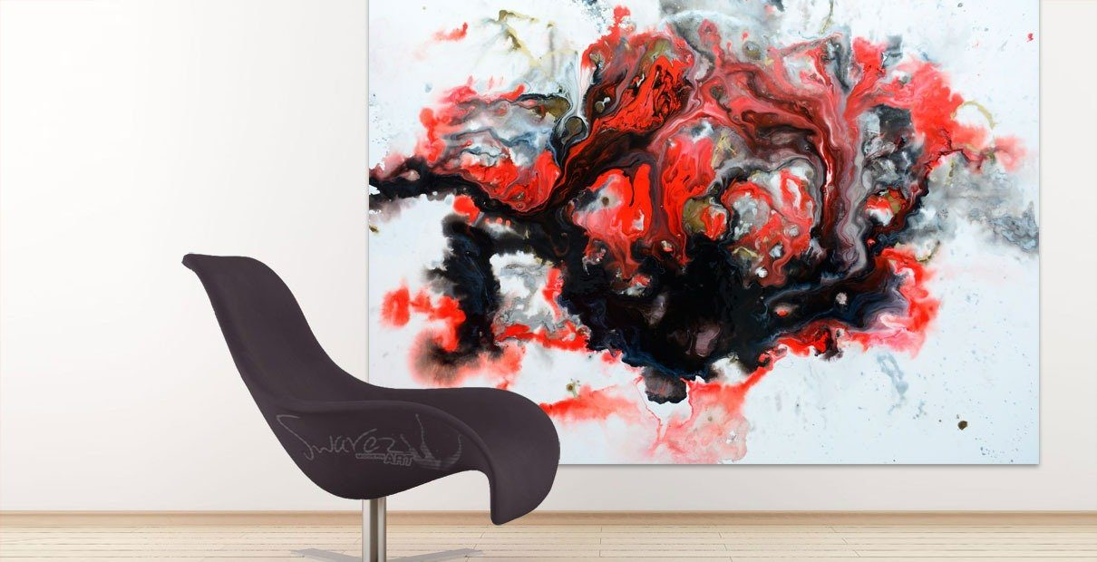 Modern-designer-sofa-and-a-piece-of-contemporary-art