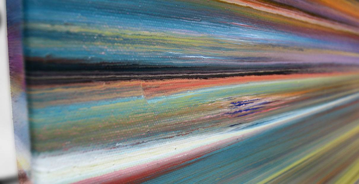 Detailed view of multi coloured stripes and lines