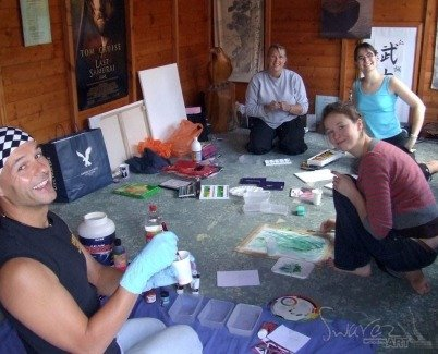 First day of painting with the Bushido instructors