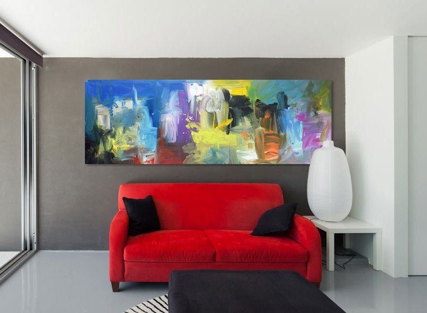 Modern-interior-with-red-sofa
