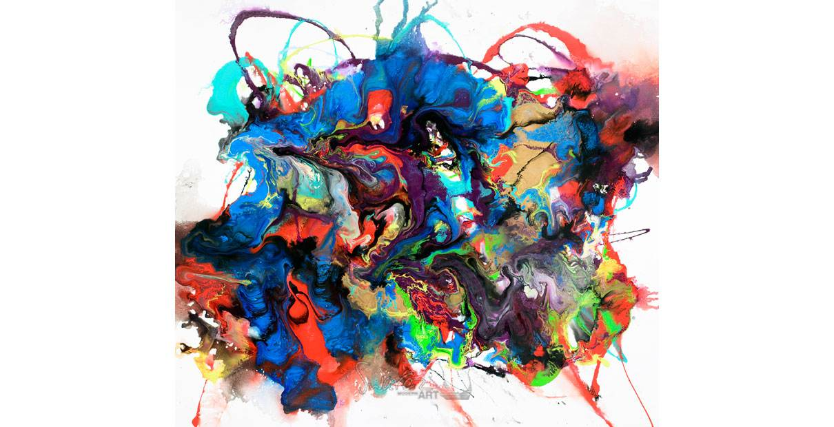 Abstract chaos painting