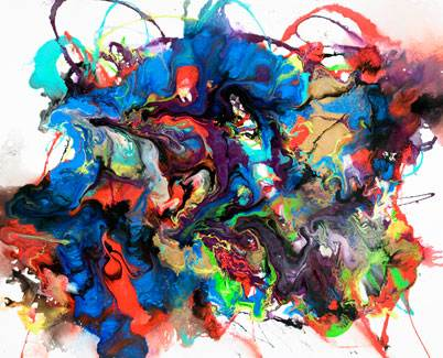 Multi coloured art