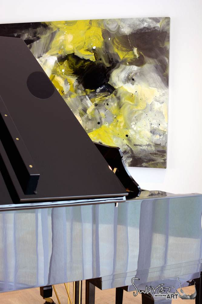 Baby Grand piano in a formal reception room