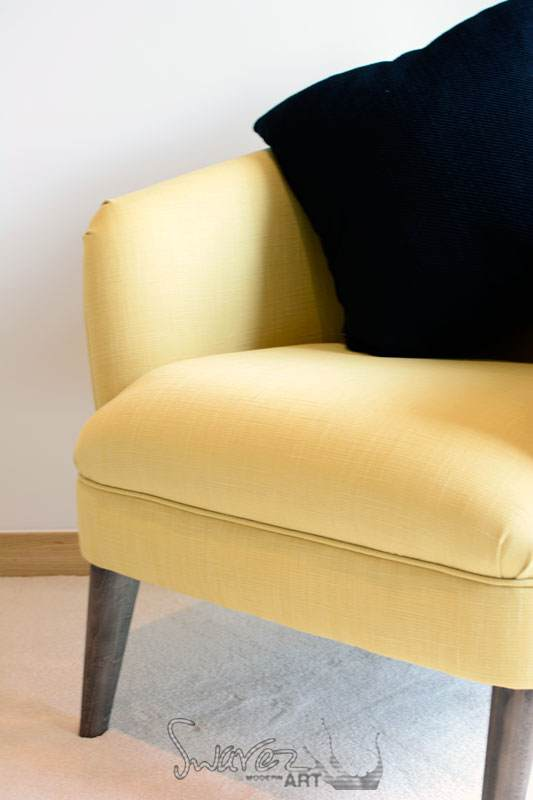 Light yellow occasional chair