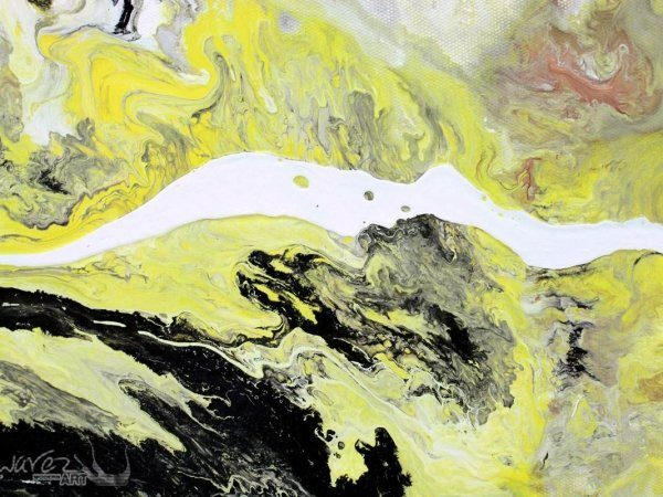 Mustard yellow paint mixed with white