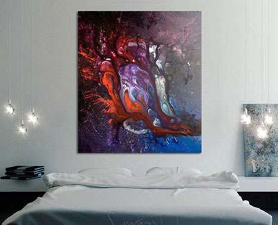 Blue and purple artwork Dark Water