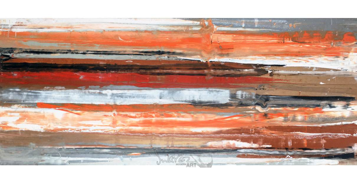Red, orange and brown painting