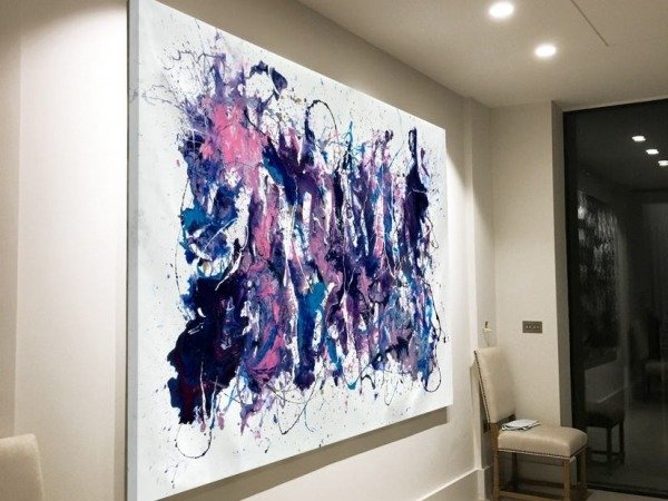 large abstract painting called Hemispheres