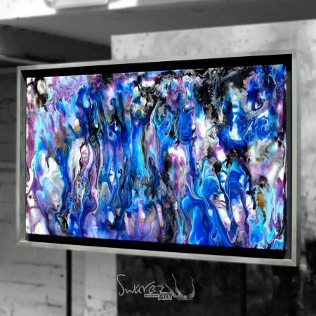 Blue and silver art