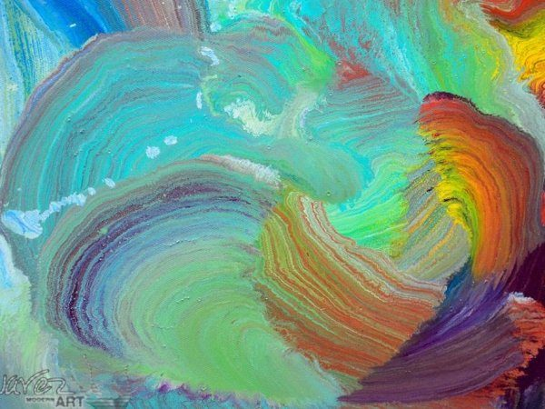 Close up of contemporary art called Crystal Waters