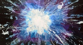 Art like a cosmic star burst