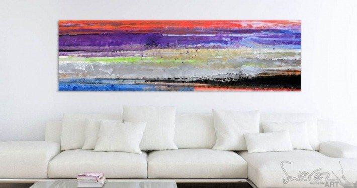 Abstract striped painting