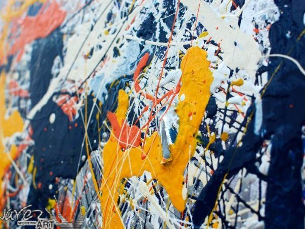 Drip painting details
