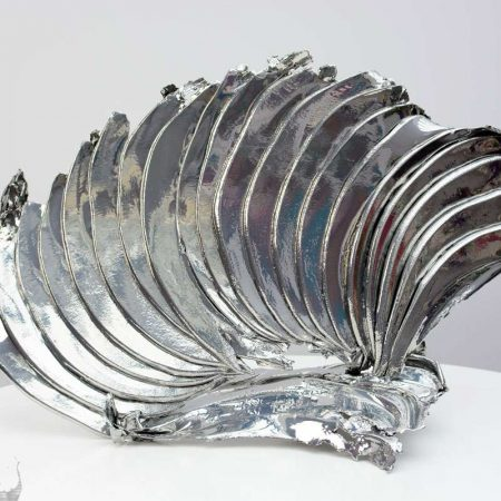 Chrome plated sculpture called Vulcan