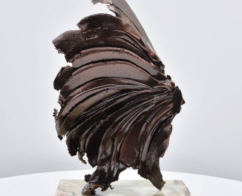 dark bronze sculpture