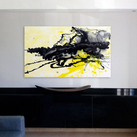 Small-asbtract-original-art-above-a-console-table-(1)