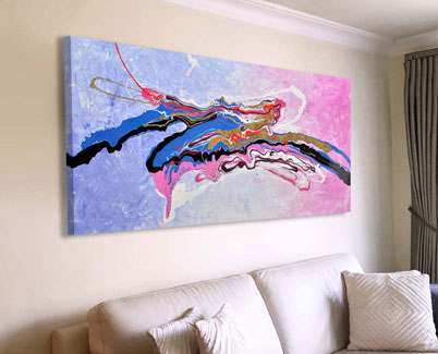 Lilac-and-pink-based-abstract-painting