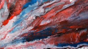 Red white and blue art like a starburst