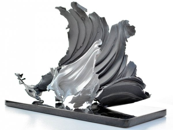 Two piece metal sculpture (3)