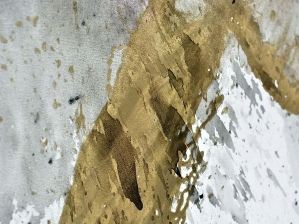 18 carat gold paint on canvas