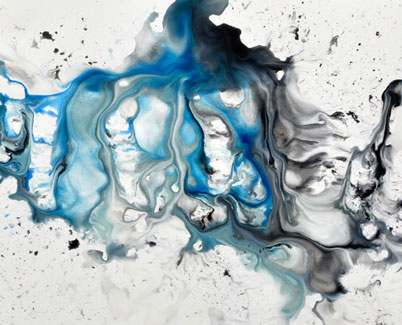 Blue painting called Absolute Zero