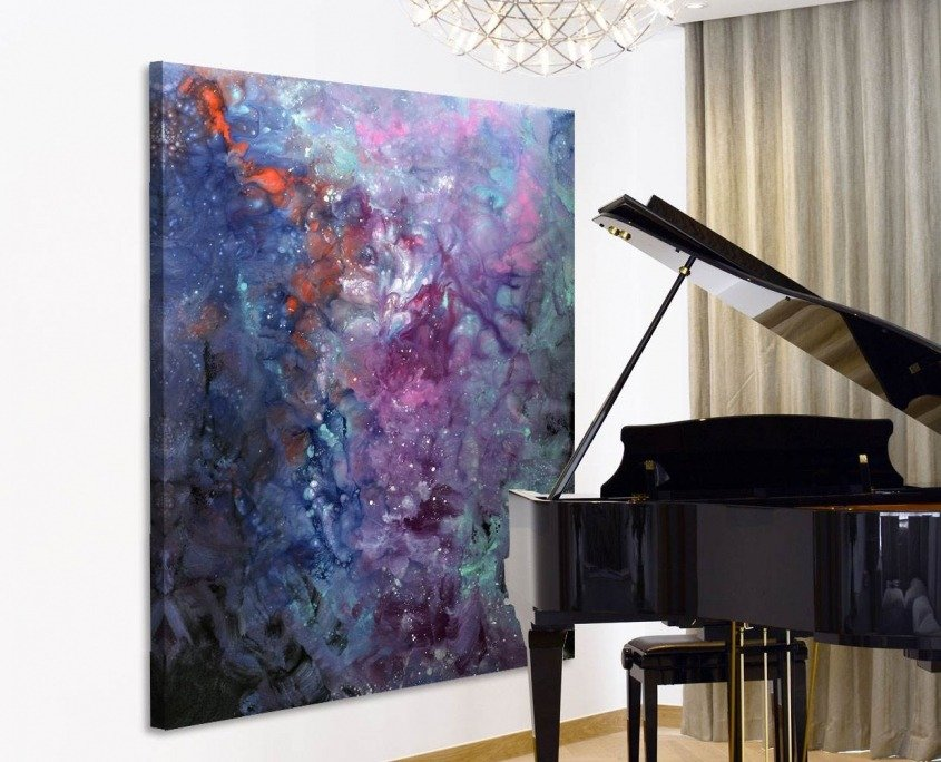 Contemporary artwork called Andromeda by piano