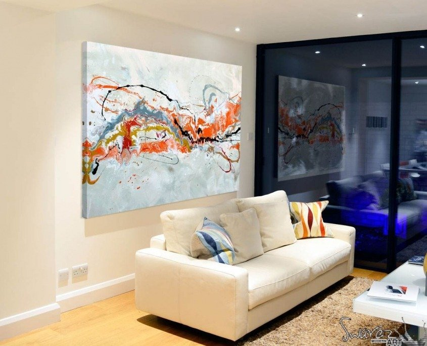 orange-and-black-painting-in-living-room