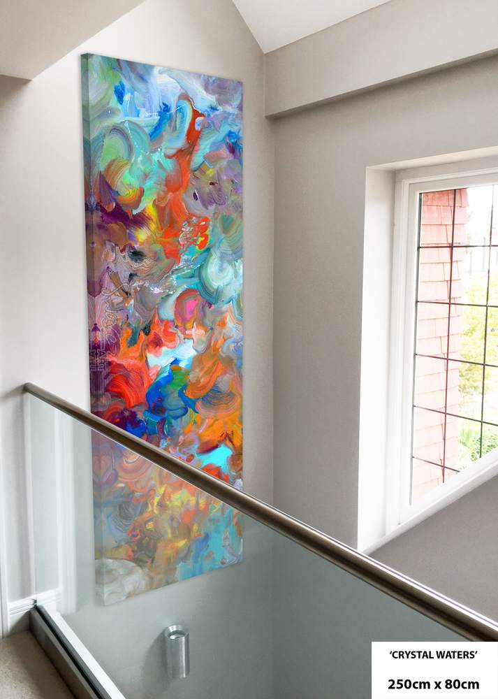 multi coloured in entrance hall