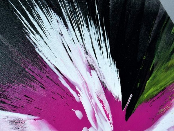Black and pink painting