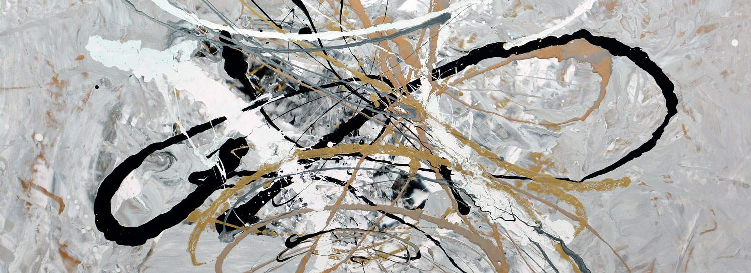 Bolero gold and silver painting