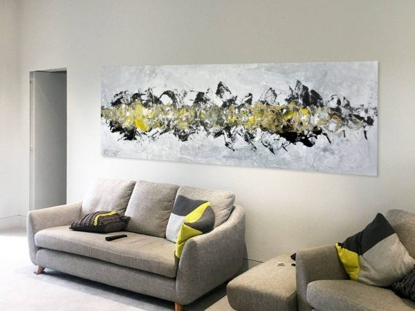 large yellow and black art